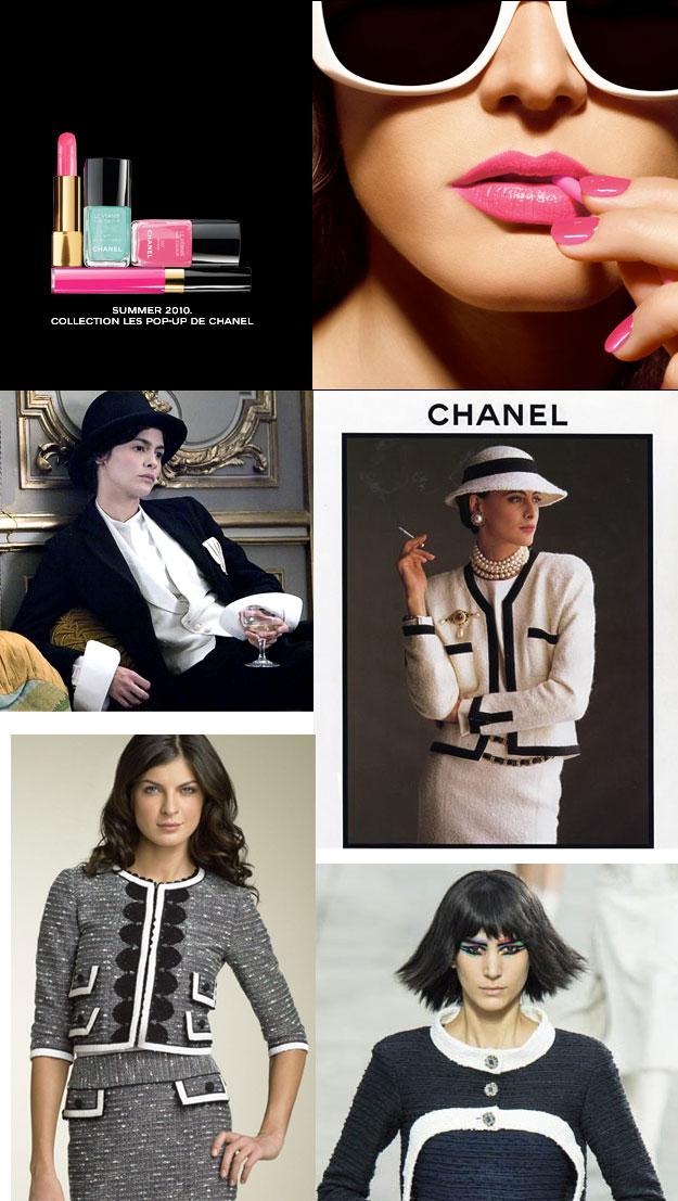 классические модели Шанель и ее стиль идеально подходит зимнему цветотипу